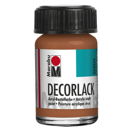 Decorlack Acryl, 15ml, metallic-kupfer