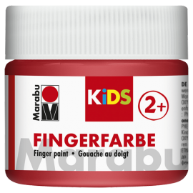 Fingerfarbe, 100ml, rot