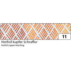 Washi-Tape, HOTFOIL KUPFER Schraffur