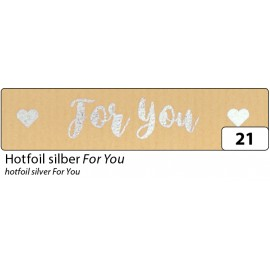 Washi-Tape, HOTFOIL SILBER For You
