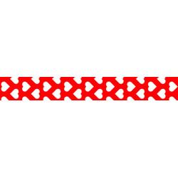 Washi-Tape, Herzen rot