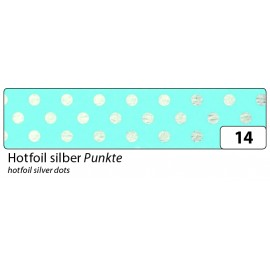 Washi-Tape, HOTFOIL SILBER Punkte