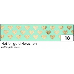 Washi-Tape, HOTFOIL GOLD Herzchen