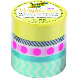 Washi-Tape 5er Set NEON PINK