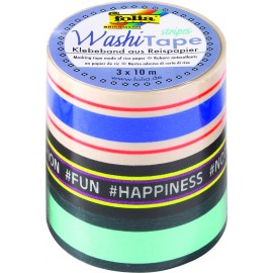 Washi-Tape 3er Set STRIPES NEON I