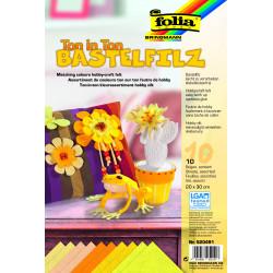 Bastelfilz, Ton in Ton, 10 Bogen, gelb