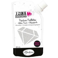 IZINK Diamond, 80ml, 24 Karat, silber