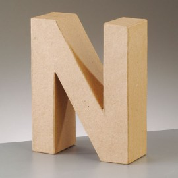 Kartonbuchstabe N, klein