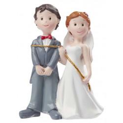 Hochzeitspaar mit Seil ca.8cm