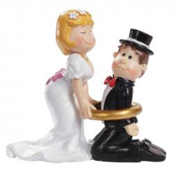 Hochzeitspaar m.Ring, 8cm