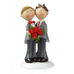 Hochzeitspaar Männer, 9cm