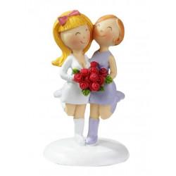 Hochzeitspaar Frauen, 9cm
