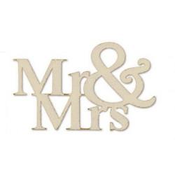 Mr. & Mrs. 14,5x9cm, 3St. silber