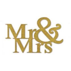 Mr. & Mrs. 14,5x9cm, 3St. gold