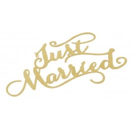 Just Married, 14,5x9cm, 3St. gold
