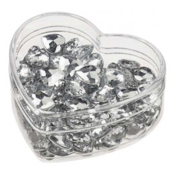 Streu-Diamant Herz 10mm, 120St