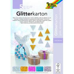 Glitterkarton-Block GROB, 17,4x24,5cm
