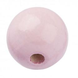 Schnulli-Holzperle, 12mm, 25Stk., rosa