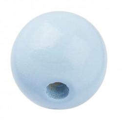 Schnulli-Holzperle, 12mm, 25Stk., hellblau