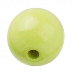Schnulli-Holzperle, 12mm, 25Stk., lemon