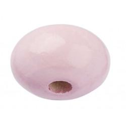Schnulli-Holzlinse, 10x5mm, 15Stk., rosa