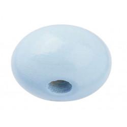 Schnulli-Holzlinse, 10x5mm, 15Stk., hellblau