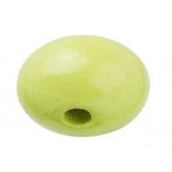 Schnulli-Holzlinse, 10x5mm, 15Stk., lemon