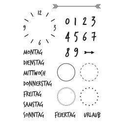 Stempel-Set, A7,  Kalender 2, 26-teilig