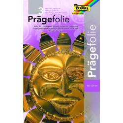 Prägefolienmappe, 3 Blatt, gold