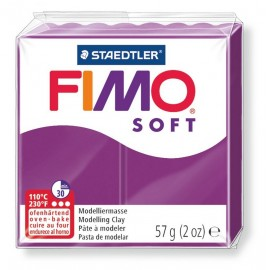 Fimo soft, purpurviolett, 56g