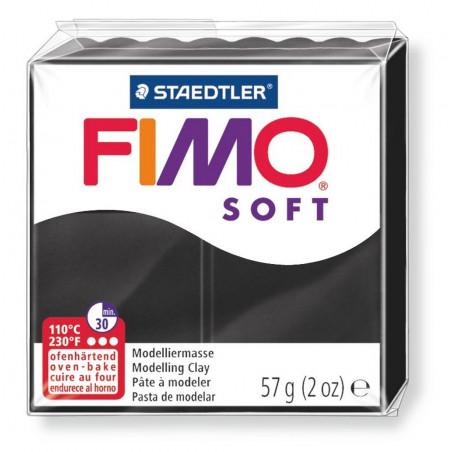 Fimo soft, schwarz, 56g