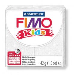 Fimo Kids, Glitter weiss, 42g