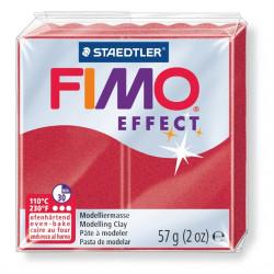 FIMO effect, Metallic rubinrot, 56g