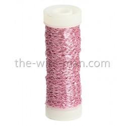 Bouilloneffektdraht, rosa, 0.3mm, 35m