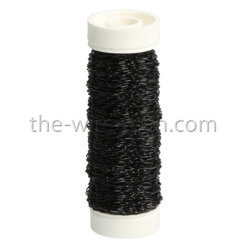 Bouilloneffektdraht, schwarz, 0.3mm, 35m