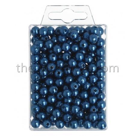 Perlen, 8mm, 250Stk., blau