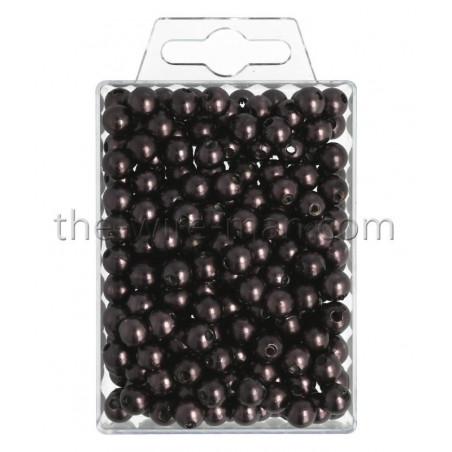 Perlen, 8mm, 250Stk., brandy