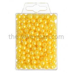 Perlen, 8mm, 250Stk., gelb