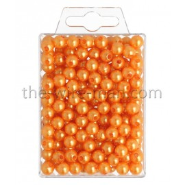 Perlen, 8mm, 250Stk., orange