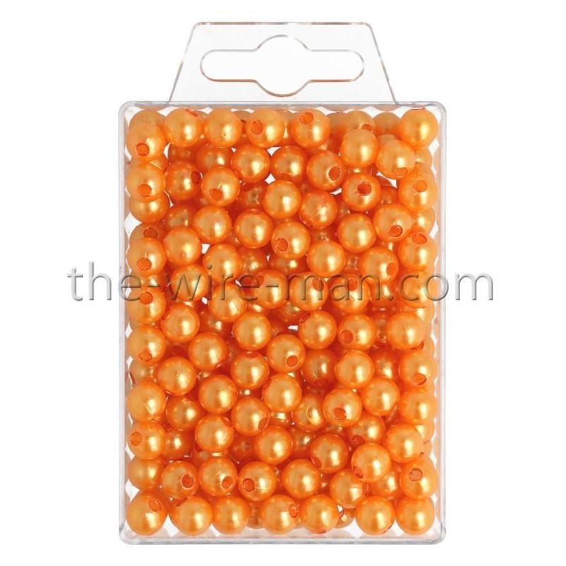 Perlen, 8mm, 250Stk., orange