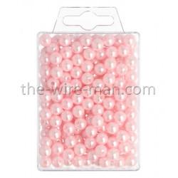 Perlen, 8mm, 250Stk., rosa