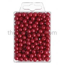 Perlen, 8mm, 250Stk., rot