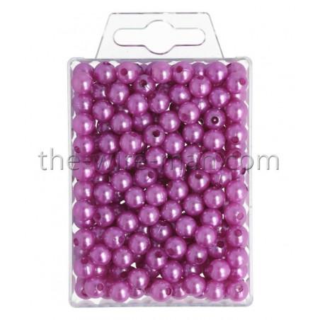 Perlen, 8mm, 250Stk., violett