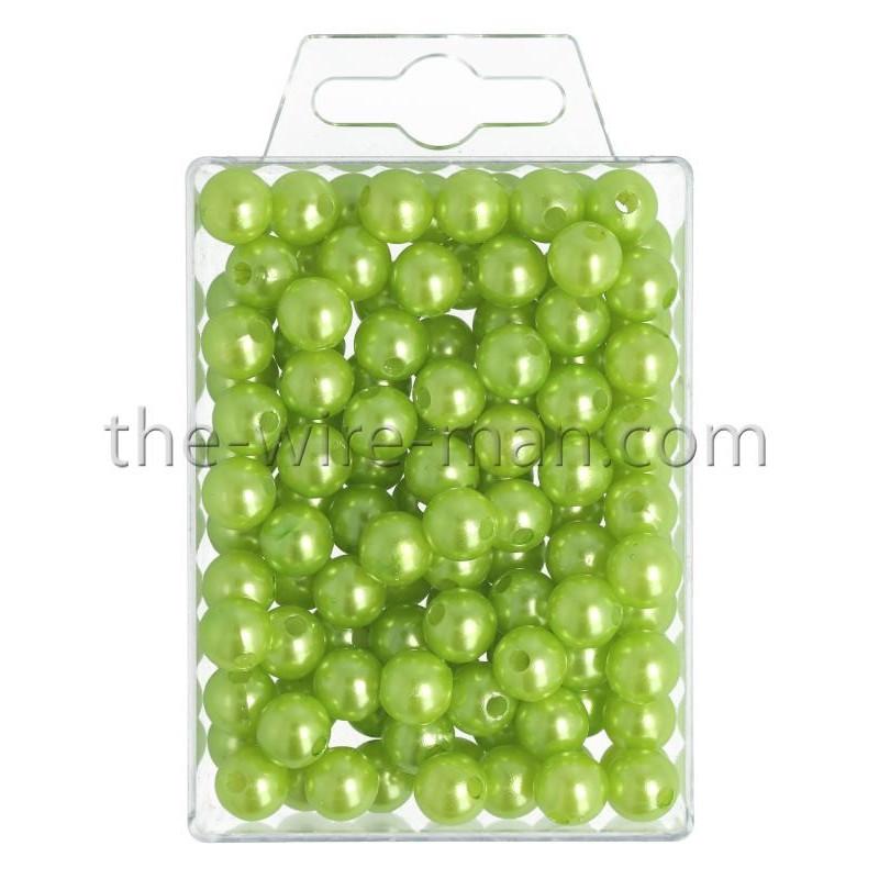 Perlen, 10mm, 115Stk., apfelgrün