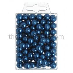 Perlen, 10mm, 115Stk., blau
