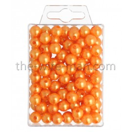 Perlen, 10mm, 115Stk., orange