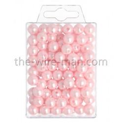 Perlen, 10mm, 115Stk., rosa
