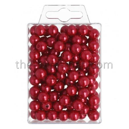 Perlen, 10mm, 115Stk., rot