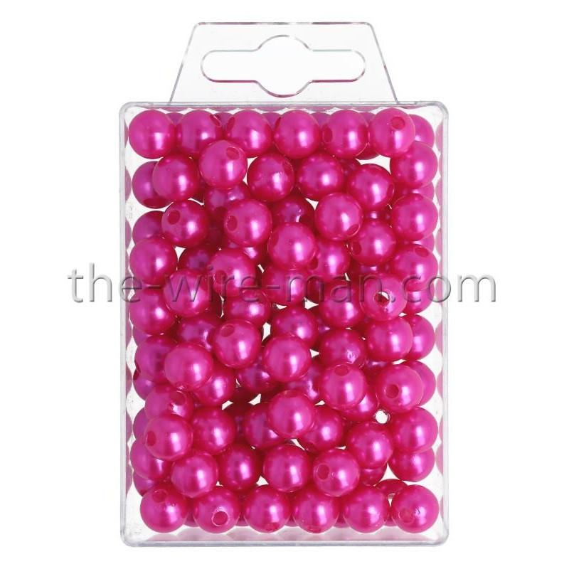 Perlen, 10mm, 115Stk., pink