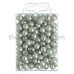 Perlen, 10mm, 115Stk., silber